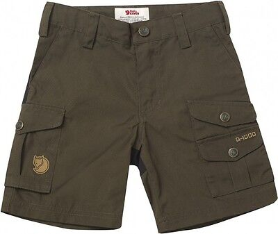 FjallRaven Kids Vidda Shorts F82469 Dark Olive (122)