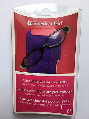 "AMERICAN GIRL 18"" Chocolate Glasses Storage Case for Doll - BRAND NEW IN BOX NIB"