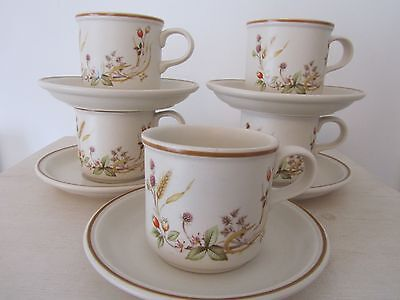 Marks and Spencer HARVEST  1418   Cups and Saucers  x 5