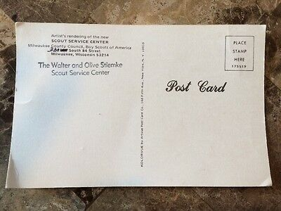 Boy Scout Vintage Post Card Milwaukee County Council Scout Service Center WI