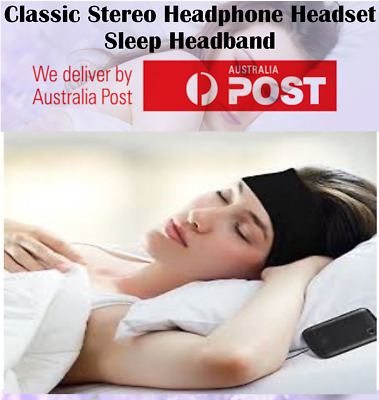 Sleep Headphones SleepPhones Headband Mask for Running Sleeping Relaxing - BLACK