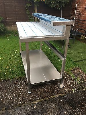 Brand New Stainless Steel Commercial Kitchen Unit Prep Bench