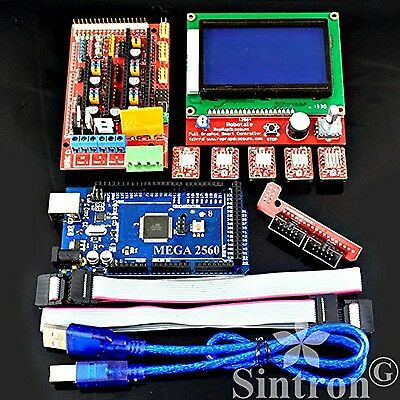 [Sintron] 3D Printer Controller Kit RAMPS 1.4 + Mega 2560 R3 + 5pcs A4988 Ste...