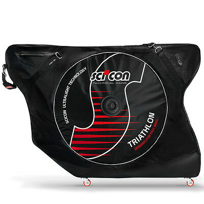 SciCon AeroComfort Triathlon Bike Bag with External Shields Black