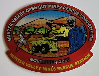 Hunter Valley Mines Rescue Comp Mining Sticker