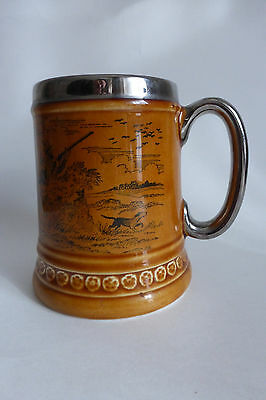 A Very Fine Lord Nelson Pottery Shooting Scene Tankard Vintage 1960s