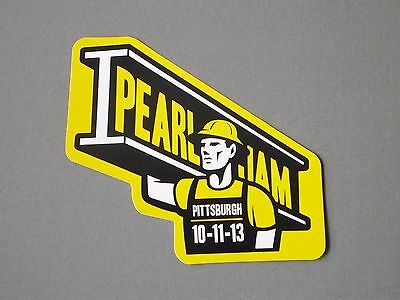 "2013 Pearl Jam ""pittsburgh, Pa"" Official Tour Pin Button - Eddie Vedder - Rare!"