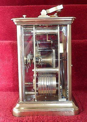 Giant English Repeating Double Fusee Carriage Clock by Dent, London.Circa 1870s