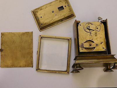 Antique Chiming Bell Striking Carriage Clock Project For Repair Or Spares