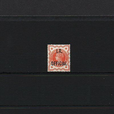 GB QV ''IR OFFICIAL'' SG O13 1/2d vermillion. Nice Unmounted Mint