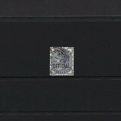 GB QV ''IR OFFICIAL'' SG O5 (surface printed SG187) 1/2d blue.  Nice good-used