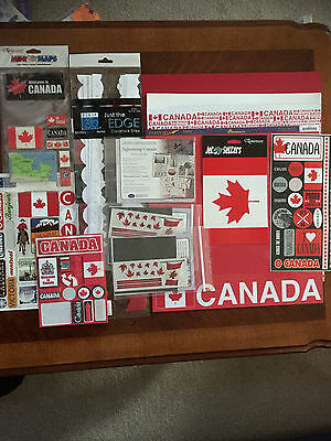 CANADA KIT Travel Creative Memories Stickers 12x12 Papers Scrapbooking LOT