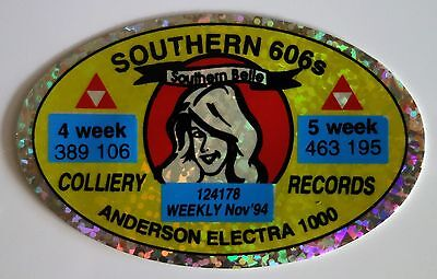 SOUTHERN 606s ANDERSON ELECTRA 1000 MINING STICKER