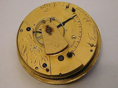 Antique English Fusee Carriage Clock Movement By James Brown, Liverpool