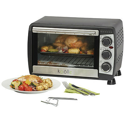 Koolle Electric Convection 18 Litre Black Mini Oven Table Top Grill Compact Unit