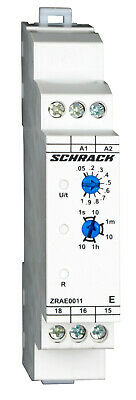 Timer single function ON-delay AMPARO, 24VAC/DC + 240VAC, 1C/O, 5A - ZRAE0011