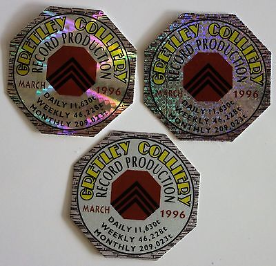 Gretley Colliery Record Production Mining Sticker Set