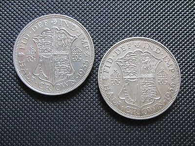 2 High Grade George V Half Crowns