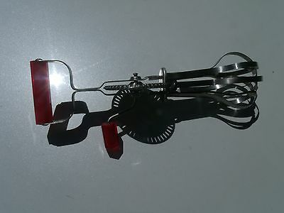 Endurance Stainless Steel Vintage Antique Style Hand Crank Cream Egg Beater