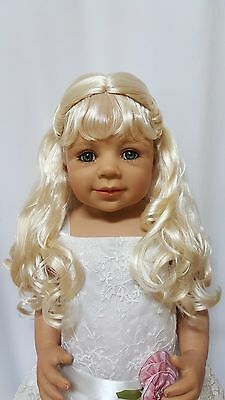 "NWT Monique Lexy Bleach Blonde Doll Wig 16-17"" fits Masterpiece Doll(WIG ONLY)"