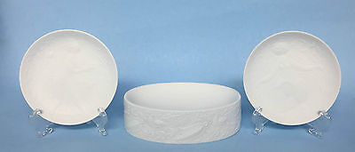 3 Rosenthal Germany Textured White Porcelain Cabinet Wares