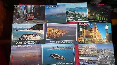 "United States, 10 x ""San Francisco"", Blank, Postcards. Various years & views."