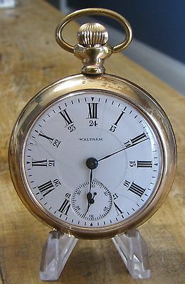 1916 Waltham P.S. Bartlett Size 18 Gold Filled Open Face Pocket Watch - Working