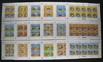 China Hong Kong Sc# 1188-1205 2006 Attractions of 18 Districts in Hk Stamps M/S