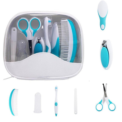 Baby Infant Grooming Healthcare Essential Kit 7 pieces Hair Brush Nail Clippers