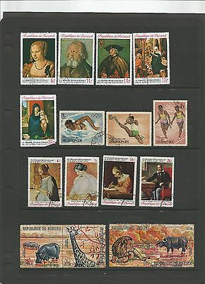 Burundi Stamp Collection 16 Used Stamps circa 1971  f42