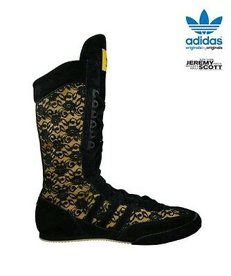 Adidas Ltd Edition Jeremy Scott Flower Lace Boxing Boots UK 7 VERY RARE 2010