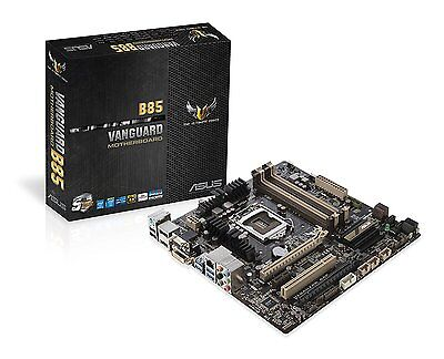 Asus Vanguard B85 Motherboard Intel B85, DDR3, Socket 1150, PCI Express 3.0