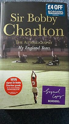 Manchester United Bobby Charlton Signed Book. My England Years. Never Been Read