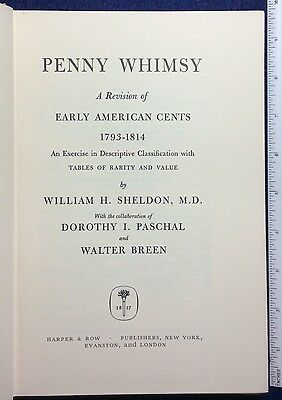 """Sheldon's  Large Cent classic """"Penny Whimsy"""" (1958) 1969 printing"""
