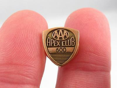 Aaa Apex Club ``600`` Gold Filled Pin  American Automobile Association