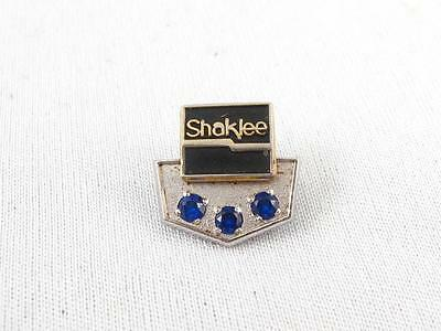 Shaklee 10K Gold Filled & 3 Sapphires Employee Service Pin