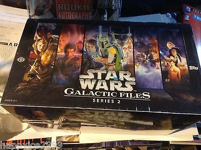 Star Wars Galactic Files Series 2 Sealed HOBBY Trading Card Box