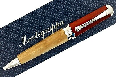 Montegrappa Piccola Beige & Red with Silver Colored Trim Ballpoint Pen ISPKCBA1
