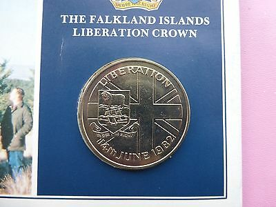 The Falkland Islands Liberation Crown coin 1982  UNC      Ref 940   3 of 3