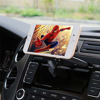 Auto Car CD Slot Mobile Phone GPS Magnetic Holder Mount For Iphone 6 7 Sat Nav