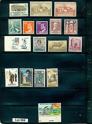Lot 898..Spain..selection of 17 mint stamps from various years