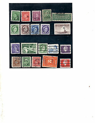 Canada Back Of Book & Pre Cancelled  Used Stamps (Item 0748)
