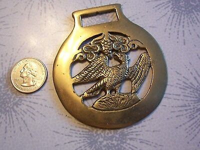 Horse Brass Tack Medallion~Saddle PARADE ADORNMENT~MAJESTIC EAGLE~ENGLAND