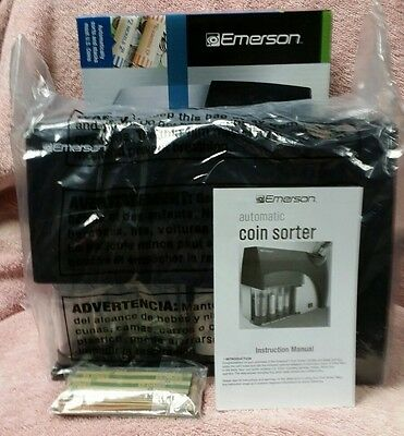 Emerson Automatic Coin Sorter, Instruction Manuel, Assorted Coin Wrappers Nib