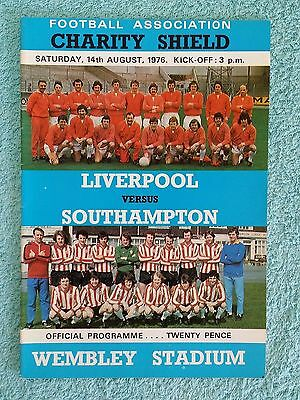 1976 - CHARITY SHIELD PROGRAMME - LIVERPOOL v SOUTHAMPTON