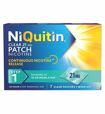 NiQuitin 21mg Clear 24 Hour 21 Patches Stop Smoking Aid (exp 08/2018)