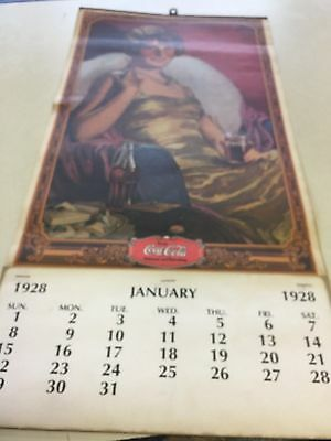 Vintage 1928 Coca Cola Calendar RARE GREAT CONDITION