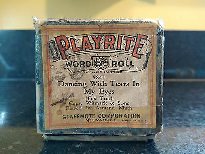 Dancing With Tears In My Eyes - Playrite Player Piano Word Roll #5841