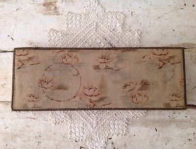 "Large Antique French Fabric Covered Box 18 1/2"" X 7"""