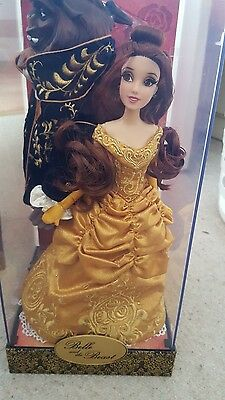 Beauty and the beast limited edition dolls disney store RARE
